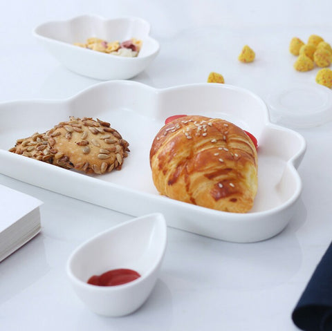 Cloud Breakfast Plate 3 Pc Set (White)