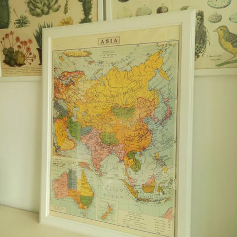 Cavallini III Asia World Map Poster