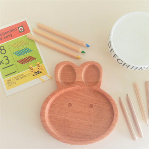 Baby Plate Wooden Rabbit