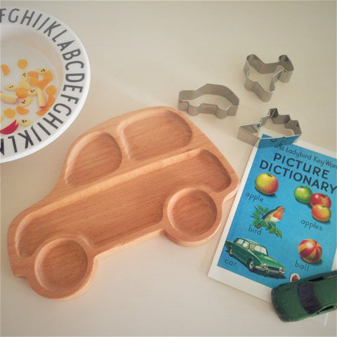 Baby Plate Wooden Car