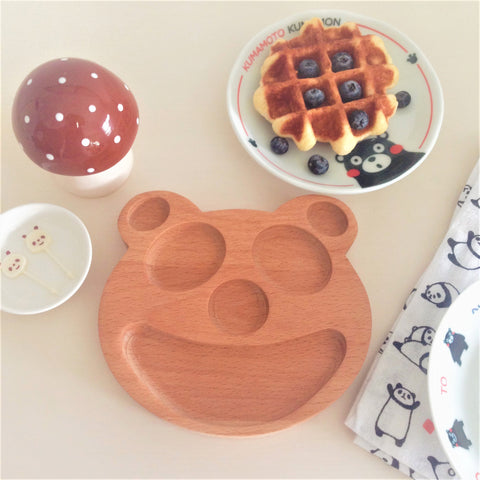 Baby Plate Wooden Panda