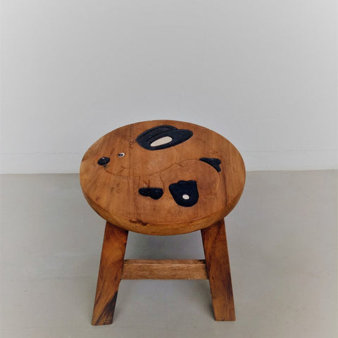 Children wooden stool (Rabbit)