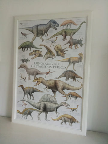 Natural History Dinosaurs of the Cretaceous Period 3 Poster