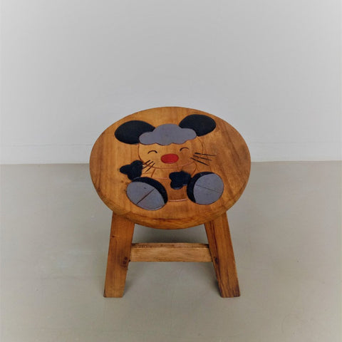 Children wooden stool (Mouse)