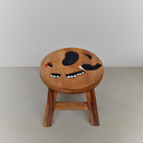 Children wooden stool (Elephant)