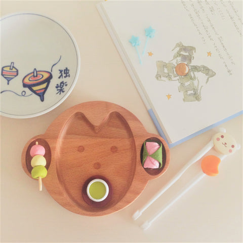 Baby Plate Wooden Monkey