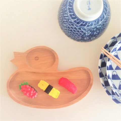 Baby Plate Wooden Duck