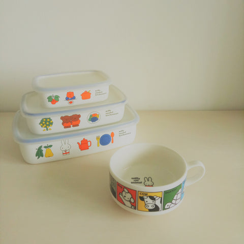 Miffy II with Animal Soup Bowl (White)