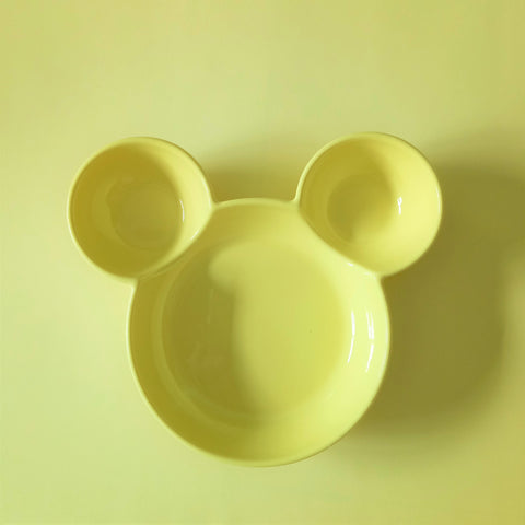 Ceramic Mickey Inspired Yellow Bowl