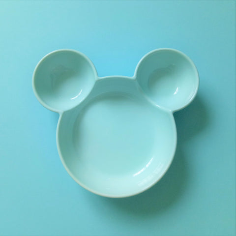 Ceramic Mickey Inspired Blue Bowl