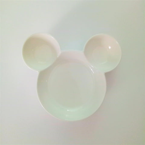 Ceramic  Mickey Inspired White Bowl
