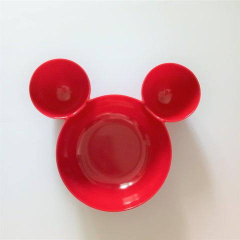 Melamine Mickey Red Bowl