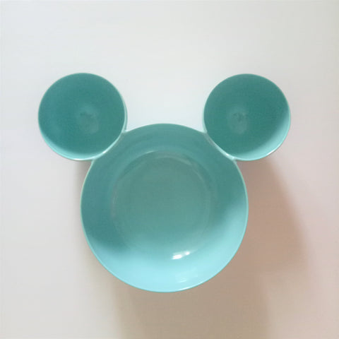 Melamine Mickey Light Blue Bowl