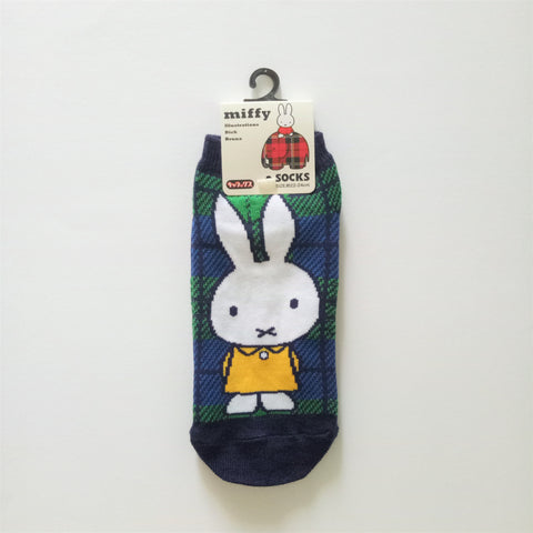 Miffy III Socks (Check Green)