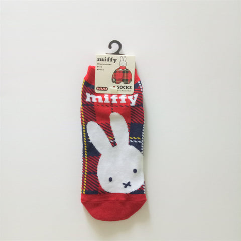 Miffy III Socks (Check Red)