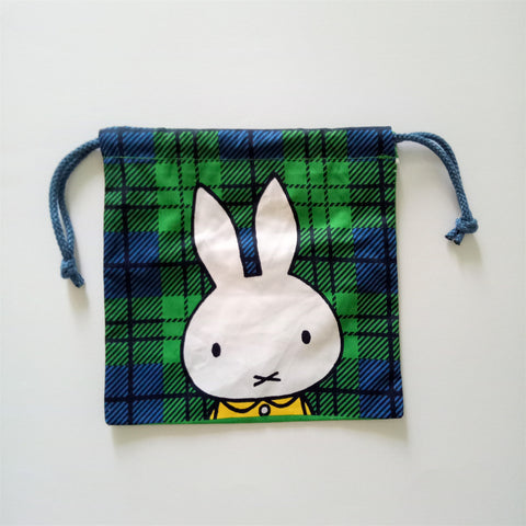 Miffy III Pouch (Check Green)