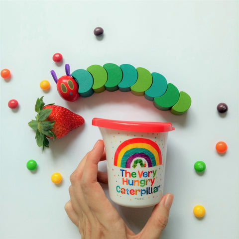 The Very Hungry Caterpillar Water Pot with Lid II (Rainbow)
