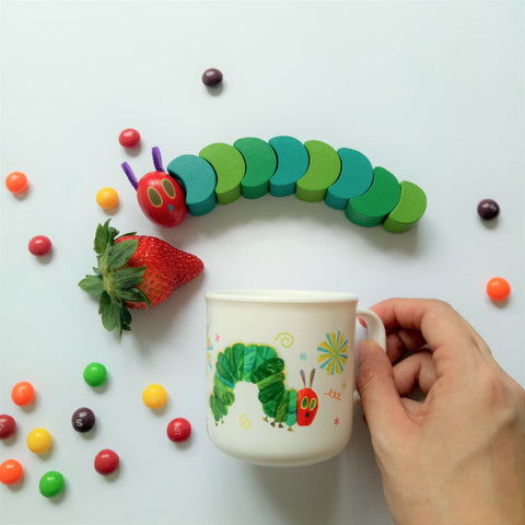 The Very Hungry Caterpillar Handle Cup II (White)