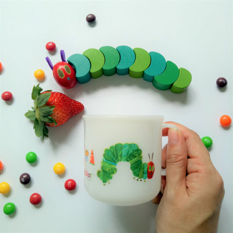 The Very Hungry Caterpillar Handle Cup II (Milky White)