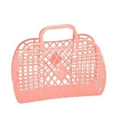 Sunjellies Retro Basket - Large Peach