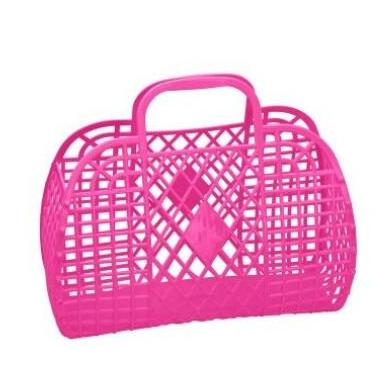 Sunjellies Retro Basket - Large Hot Pink