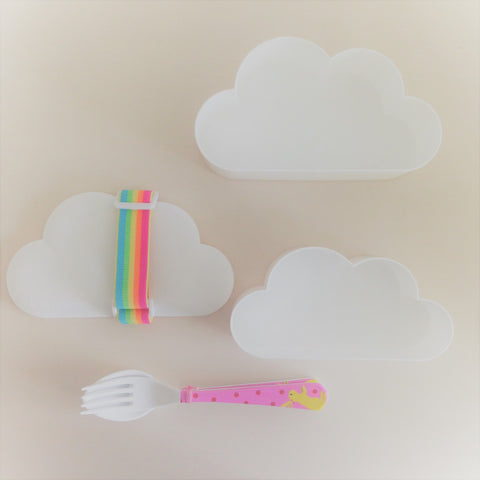 Cloud Lunchbox 3 Size Set (White)