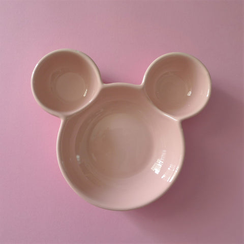 Ceramic  Mickey Inspired Pink Bowl
