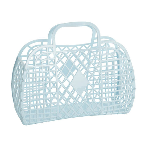 Sunjellies Retro Basket - Large Blue