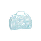Sunjellies Retro Basket -Small Blue