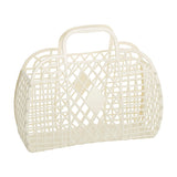 Sunjellies Retro Basket - Large Cream
