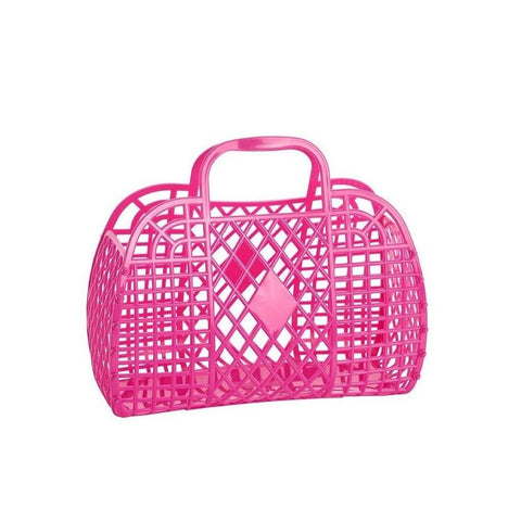 Sunjellies Retro Basket - Small Hot Pink