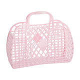 Sunjellies Retro Basket - Large Pink