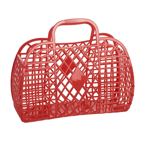 Sunjellies Retro Basket - Large Red