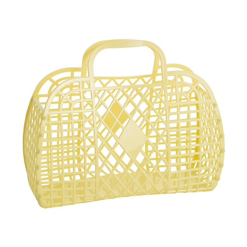 Sunjellies Retro Basket - Large Yellow