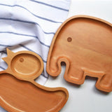 Baby Plate Wooden Elephant