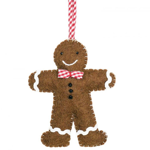 Gingham Gingerbread Ornament