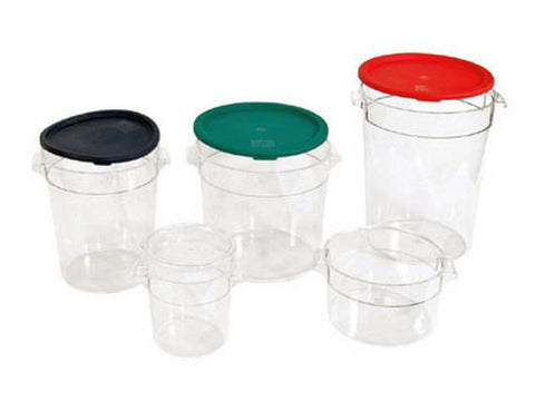 CLEAR ROUND FOOD STORAGE CONTAINER WITH LID