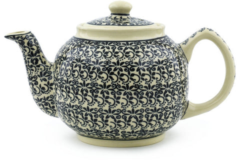 Polish Pottery Tea Pot - Large