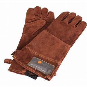 "15"" Leather BBQ Grill Gloves"