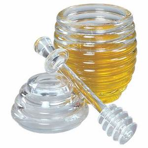 Honey Jar and Dipper Set