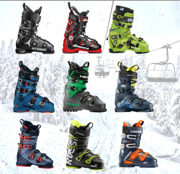 Proskiguy Men's Ski boots from Dalbello, Atomic, Nordica, Salomon, Rossignol, Lange, K2, Head, Tecnica
