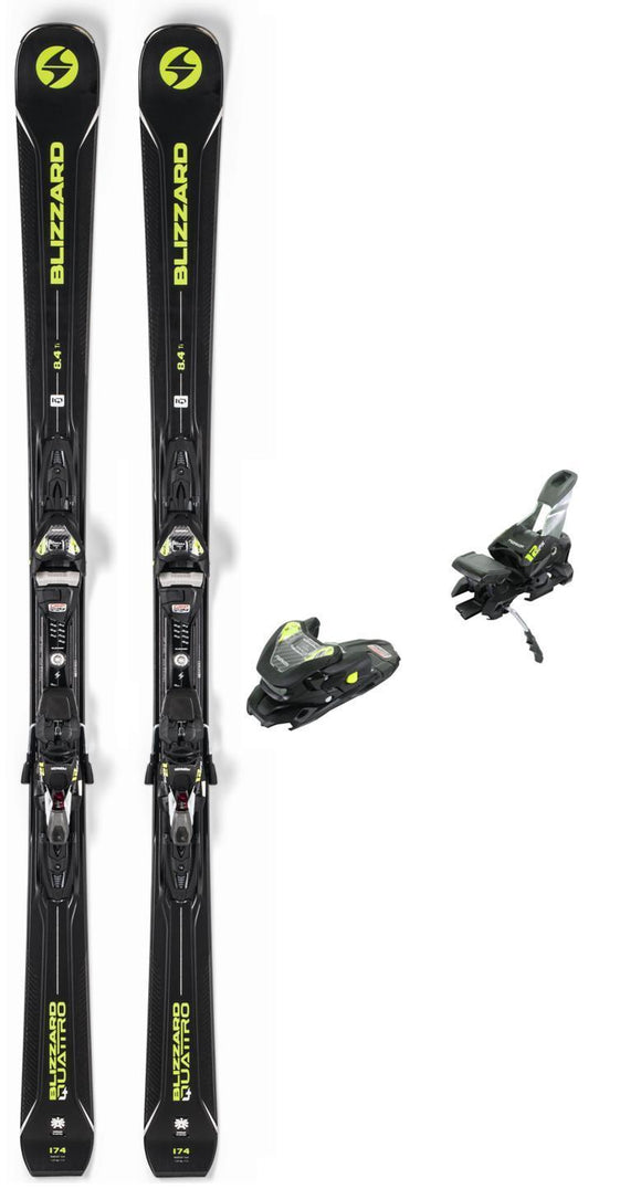 Blizzard 2019 Blizzard Quattro 8.4 Ti snow skis with bindings (CLEARANCE) - ProSkiGuy
