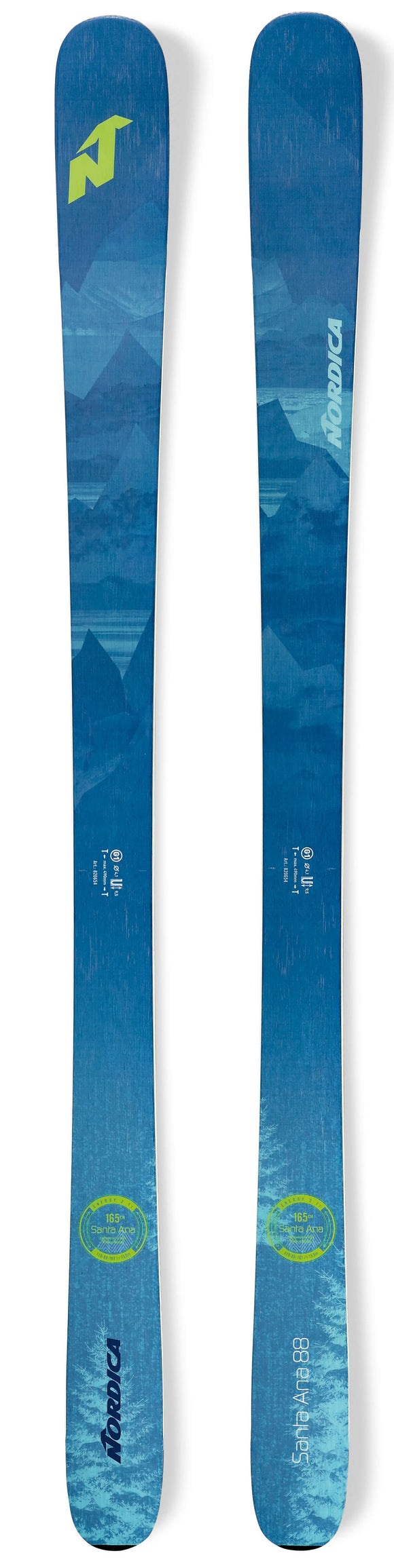 NORDICA 2020 Nordica Santa Ana 88 ladies snow skis - ProSkiGuy