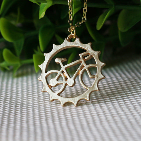 Awesome Bicycle pendant necklace