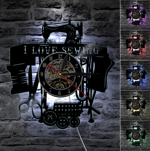 Awesome Sewing Machine Wall Clock