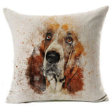 Beautiful Basset Hound Pillow Cover