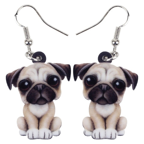 Beautiful Pug Earrings