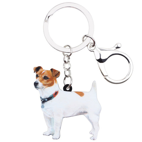 Beautiful Jack Russell Keychain