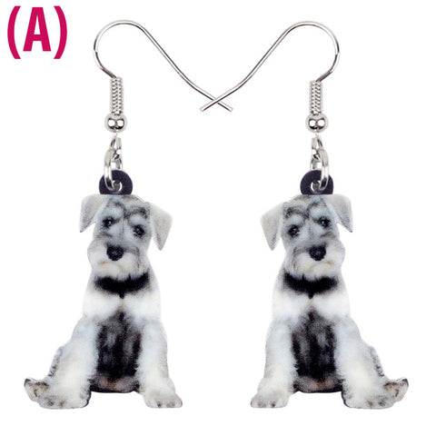 Adorable Schnauzer Earrings – Pair