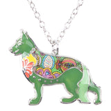 Beautiful German Shepherd Necklace Color